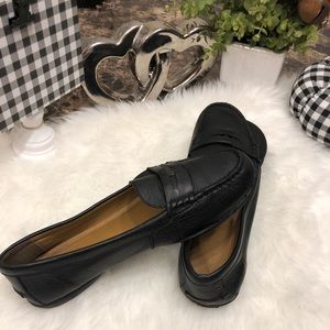 Coach Black Leather Penny Loafers.    #22